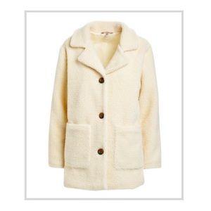NWT Cream Coloured Mid Length Sherpa Jacket